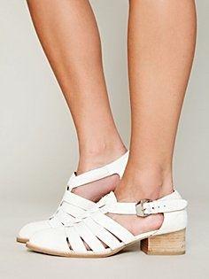 Fontane Distress Shoe in heels-wedges