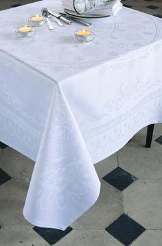 Garnier Thiebaut Eloise Diamant 69 x 69 In. Tablecloth