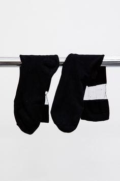 Long Black Socks with Sheer Top detail #A6251339
