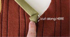 hoe maak je een V-hals netjes af met biais