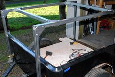 Here is a No Weld Rack I'm working on for a demo Dinoot Small Camping Trailer, Kayak Trailer, Off Road Camper Trailer, Trailer Plans, Trailer Build, Camper Trailers, Expedition Trailer, Overland Trailer, Kayak Rack