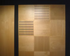 Archello - Perforated acoustic panels in wood.                                                                                                                                                      More