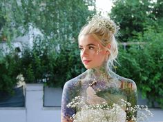 🌿Whimsical Solitude🌿 This is my most recent bodypaint, loosely inspired by the works of late Impressionism artists, especially Frank… Beauty Make Up, Solitude, Nyx, Impressionism, Body Painting, Art Nouveau, Whimsical, It Works, Lavender