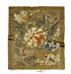 Chinese Silk Embroidery Forbidden Stitch Bat and Flower Panel Tapestry Free Ship | eBay