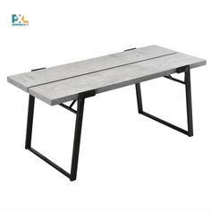 Tento jedálenský stôl má štýlový a nadčasový dizajn, jedná sa o skvele navrhnutý produkt, ktorý zabezpečuje dostatok miesta pre 6 osôb. Spája čierne kovové stolové nohy a delenú doku stola v dekore betónu.