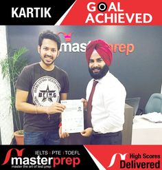Another high scorer trained by #MasterPrep! The exceptional results of our students in #IELTSExam justifies the awards and recognition achieved by MasterPrep in such a short span. It is now indeed the best #EnglishTraining institute in North India for #IELTS, #TOEFL and #PTEAcademic. www.masterprep.in