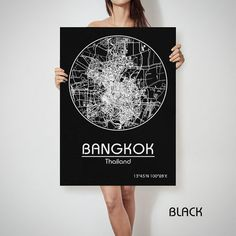 BANGKOK Thailand map City Street Map Art Print Poster City Graphical Map Wall Art Perfect Gift Home Decor Gift Idea  ♛COLORS, QUALITY AND DETAILS:  ★Printing on canvas-textured and radiant color! Best quality.  ★Best quality. Fabulous look!  ♛SHIPPING AND PACKAGING:  ★Delivered in cardboard tube by Belpost Priority Mail with tracking number or EMS. ★All prints are packaged and wrapped, shipped in a rigid mailing tube.  ★Any additional prints in the same order at NO EXTRA CHARGE!! ♛IMPORTANT…