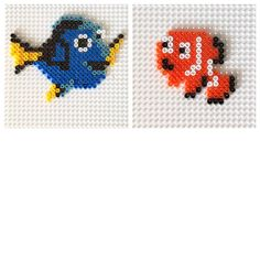 Dory and Nemo hama beads by craftykelly21