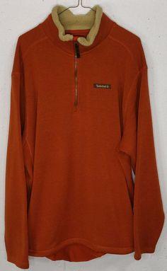 Timberland Mens Burnt Orange Long Sleeve 1 4 Zip Pullover Pocket Sweatshirt  XXL  Timberland  14ZipPullover 073ab4555
