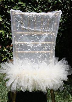 Ballerina Bride Chair Cover Bridal Shower by DivineChairDesign