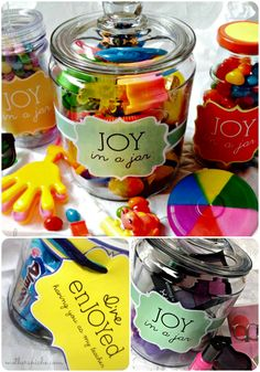 Joy in a Jar. I'm in love! The options for this gift tag are pretty much endless.