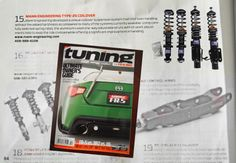 Special Type-25 Coilover kit from Mann Engineering featured in Tuning Magazine 2014 page 84!