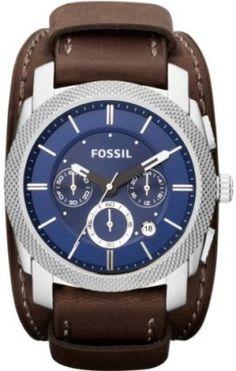 Relógio Fossil Watches, Men's Machine Chronograph Leather Watch Espresso #Relógio #Fossil