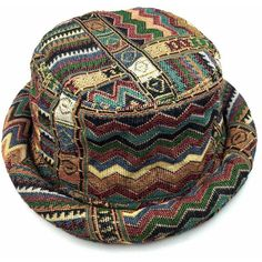 Funky Bucket Hat (295 ARS) ❤ liked on Polyvore featuring accessories, hats…