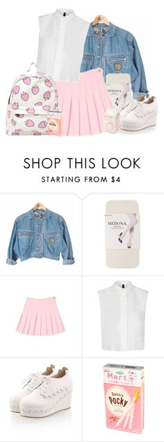 """""""strawberry"""" by swimstar000 ❤ liked on Polyvore featuring Merona and MANGO"""