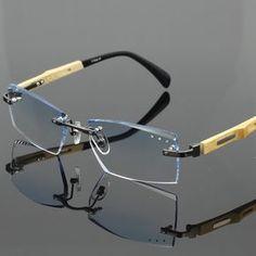 3d1332572d1b New fashion glasses frame with trimming cut lenses prescription lenses men  women eye wear 2006 rimless