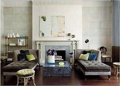 SIDE-BY-SIDE: We love the idea of placing two Chaise Lounges in a space.