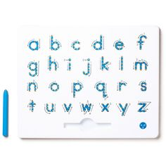 A to Z Magnatab Lowercase Letters: Trace each letter with the magnetic stylus, using the directional arrows to learn the curves of the lower-case alphabet.