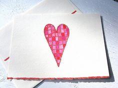 Patchwork heart card From ArtfulHummingbird