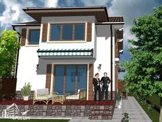 Case cu latimea de 7 metri - 3 proiecte generoase - Case practice Utila, Home Fashion, House Plans, Modern Design, Exterior, Mansions, House Styles, Home Decor, Houses