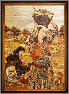 Iranian Marquetry page 9 Iranian Art, Wooden Art, Persian, Fine Art, Painting, Google Search, Frame, Wood, Marquetry
