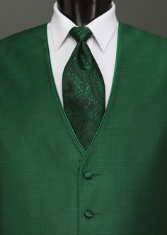 Emerald Green: Pantone Color of 2013: Sterling Emerald by Jean Yves / http://tuxedocentral.com/Vests/Sterling-Emerald-by-Jean-Yves-272.aspx