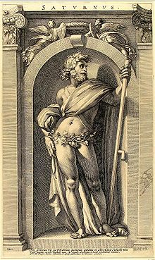 Saturn was a major god presiding over time. His reign was depicted as a Golden Age of abundance and peace by many Roman authors. . Saturn is the namesake of both Saturn, the planet, and Saturday (dies Saturni). He was identified in classical antiquity with the Greek deity Cronus.