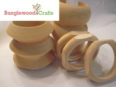 Unfinished Wooden Bangle Set  http://www.etsy.com/shop/BanglewoodSupplies