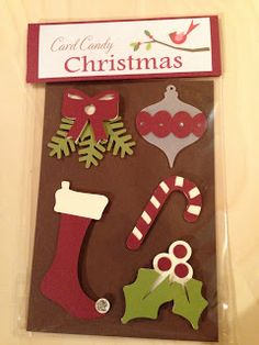 """Heikes Kreativseite: Card Candys zum Thema """" Weihnachten """" Candy Cards, Christmas Candy, Scrapbooks, Embellishments, Holiday Decor, Mini, Cards, Christmas, Ornaments"""