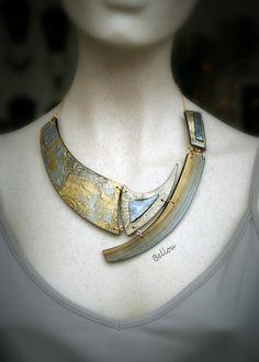 Collier original antique or et argent : Collier par bellou