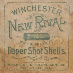 Winchester New Rival #typehunter #typeresearch #vintagetypography