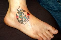 Nice Design of Girls Anchor Tattoo Design Photo, Anchor Tattoo Meaning For Girls Girl Anchor Tattoos, Feminine Anchor Tattoo, Anchor Tattoo Ankle, Anchor Tattoo Design, Ankle Tattoo Designs, Tattoo Designs For Girls, Girl Tattoos, Tattoos Skull, Back Tattoos