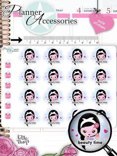 Sticker - Beauty Time Sticker NR973 - ein Designerstück von PlannerAccessories bei DaWanda