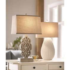 """August Grove Euna 27"""" H Table Lamp with Empire Shade"""