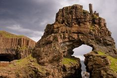 Carsaig arches near Pennyghael on the Isle of Mull, Scotland.