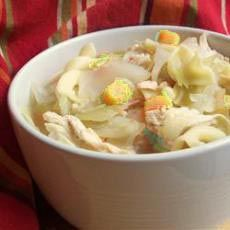 HCG Diet Recipe - Good old fashioned Chicken Soup. Here we substitute noodles with cabbage. Delicious!