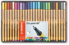 Stabilo Point 88 Pens, Set of 25