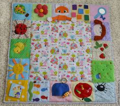 Купить Развивающий коврик для малышей №2 - разноцветный, развивающая игрушка, развивающий коврик, коврик, для детей
