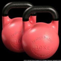 Pair of 10 kg - 22 lb Paradigm Pro® Elite Precision Steel Competition Kettlebells - Free Shipping