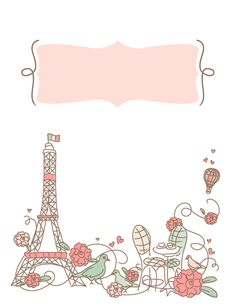 Free printable Paris binder cover template. Download the cover in JPG or PDF format at http://bindercovers.net/download/paris-binder-cover/
