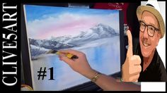 Bob Ross Style, Acrylic Painting for beginners,
