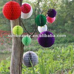 tissue honeycomb balls