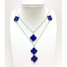 Lapis on Silver Chain : Oceans Allure