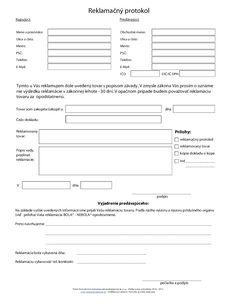 Žiadosť o reklamáciu - reklamačný protokol Sheet Music, Music Sheets