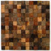 """Found it at Wayfair - 12"""" Teak Flooring in Rustic Checkmate Mosaic"""