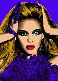 "#Beyonce ""pop art"" recreation of an I Am Sasha Fierce Promo Pic #Queenbey"
