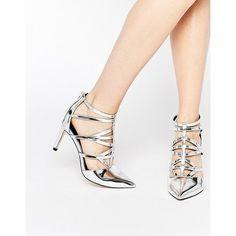 c0b2f0d0cb5669 ASOS SYNC Caged Heels (1.015 THB) ❤ beliebt bei Polyvore  Schuhe