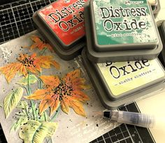 painting with distress Oxides and waterbrush Good Morning My Friend, Stampers Anonymous, Distress Oxide Ink, Christmas Stickers, Watercolor Cards, Tim Holtz, Blank Cards, How To Dry Basil, Fails