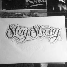 """37 Likes, 1 Comments - Ignacio Pardo (@ignaciopardo93) on Instagram: """"Primeras letras del año :) #stay #strong #tattoo #lettering #ink #inked #art #draw #sketch…"""""""