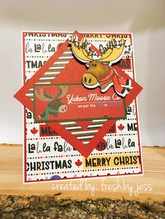 """PhotoPlay """"Oh Canada Christmas"""" Paperpack, dies and stamps Canada Christmas, Split Coast Stampers, O Canada, Card Making Inspiration, Card Sketches, Handmade Cards, Card Ideas, Christmas Cards, Stamps"""